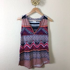 Anthropologie Meadow Rue patterned top